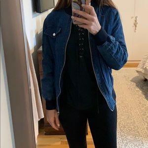 ASOS jean bomber jacket